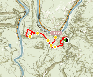 Cliff Hanger 4x4 Trail Map