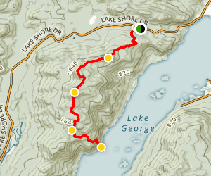 North Tongue Mountain Range Five Mile Mountain and Lake George Trail Map