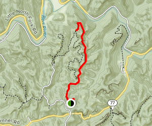 Auxier Ridge Trail to Courthouse Rock Map