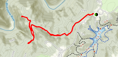 Pipestem McKeever to Heritage Point and Canyon Rim Map