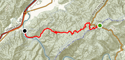 Appalachian Trail: Indian Grave Gap to Chestoa Map