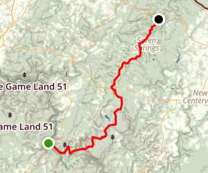 Laurel Highlands Hiking Trail Map