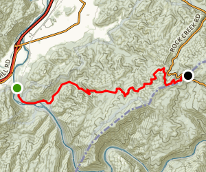 AT Nolichucky River/Indian Grave Gap Map