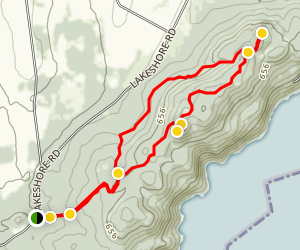 Split Rock Mountian North Loop Map