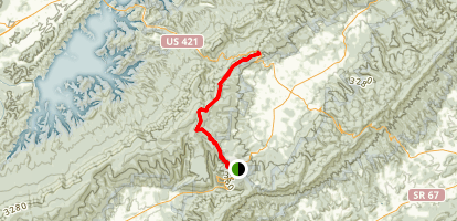 Appalachian Trail: TN 91 to Low Gap Map