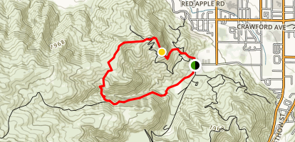 Saddle Rock to Green Shack Map