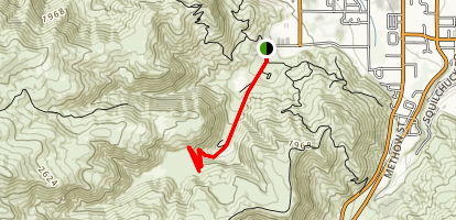 Dry Gulch Short Route Map