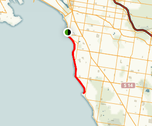 Bay Trail: Elwood to Sandringham Map
