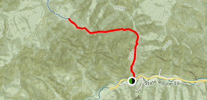 Goodale Canyon Trail Map