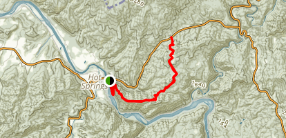 Appalachian Trail: Hot Springs to Tanyard Gap Map