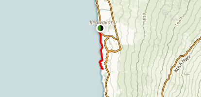 Keawakapu Beach Trail Map