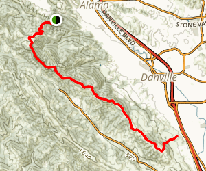 Las Trampas Ridge Trail Map