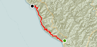Lost Coast Trail: Bear Harbor to Usal Camp Map