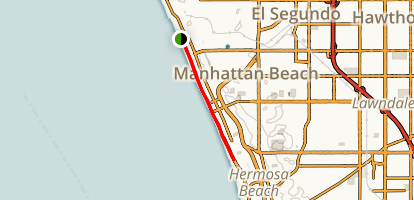 El Segundo Beach to Hermosa Beach Trail Map