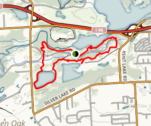 Island Lake Hiking Trail Map