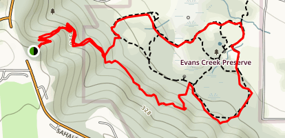 Evans Creek Preserve from Sahalee Way Map