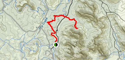 Devil's Bridge via Chuck Wagon Trail Map