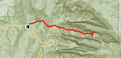 Middle Fork Taylor Creek Trail (CLOSED) Map