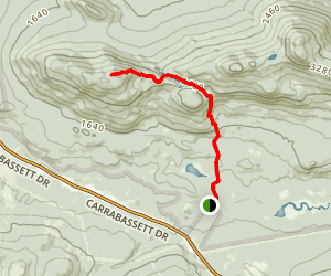 Cranberry Peak via Appalachian Trail Map