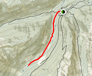 Chalk Creek above St. Elmo Map