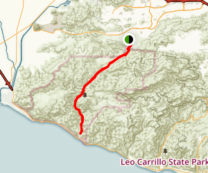 Big Sycamore Canyon Trail Map