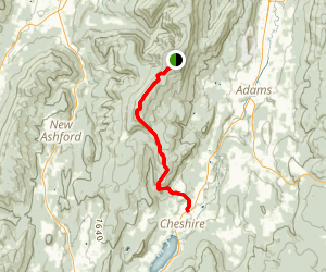 Appalachian Trail: Mount Greylock to North Adams Map