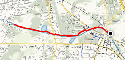 Erie Canalway Trail: Pittsford to Spencerport Map