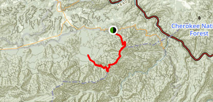 Mount Cammerer via Groundhog Ridge Manway Map