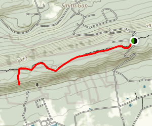Appalachian Trail: Smith Gap Road to Wind Gap Map