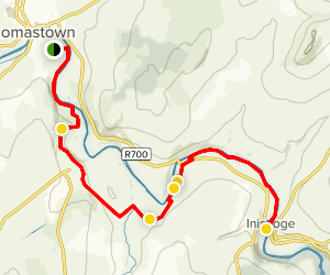 Nore Valley Walk: Thomastown to Inistioge Map