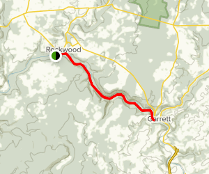Allegheny Highlands Trail: Rockwood to Garrett Map