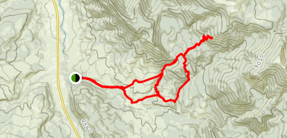 Porcupine Creek Loop Map