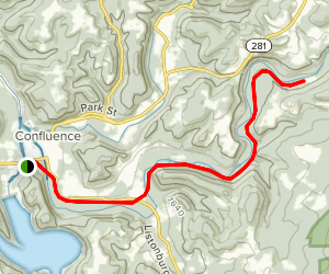 Allegheny Highlands Trail: Confluence to Ft. Hill Map