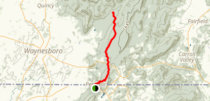 Appalachian Trail: Pen Mar to Old Forge Map