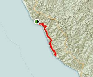 Lost Coast Trail: Bear Harbor to Mistake Point Map