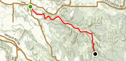 Butte Creek: Scout Camp to Pudding River Map