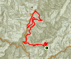 Bumcombe Horse Trail, Mount Mitchell Summit, Ranger Station via Blue Ridge Parkway and Commisary Trail Map