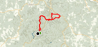 Zaleski Backpack Trail Map