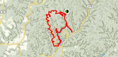 Bobcat Trail, Hope Furnace Trail, and Cooperhead Trail Loop Map