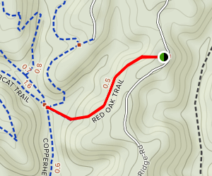 Red Oak Trail Map