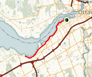 Ottawa River Pathway Western Section Map