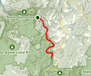 Yough River Trail: Camp Carmel to Ohiopyle Map