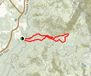 High Meadow to Cold Creek Trail Map