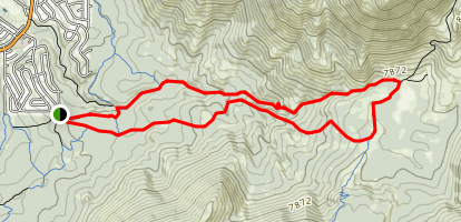 High Meadows to Cold Creek Trail Map