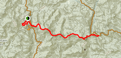Appalachian Trail: Neels Gap to Hogpen Gap Map