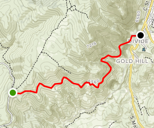 Ophir Grade Trail Map