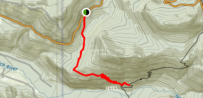 Paul Peak Trail Map