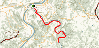 Yough River Trail: McKeesport to Boston Map