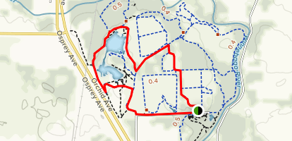 Red-Tailed Hawk to Barred Owl and Quarry Lake Loop Map