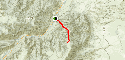 Maurice Creek Trail to Line Creek Plateau Map